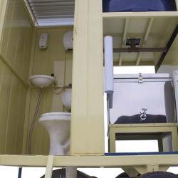 Banheiro agrícola móvel