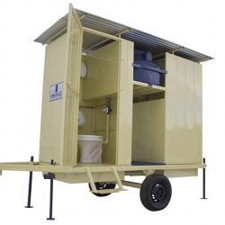 Banheiro rural móvel