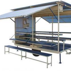 Refeitório móvel agrícola